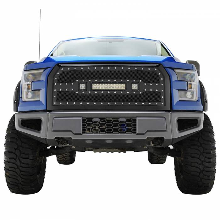 Paramount - 15-17 Ford F-150 Evolution Matte Black Stainless Steel Grille