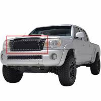 Paramount Automotive - Black Evolution Stainless Steel Wire Mesh Packaged Grille #46-0219 - Image 1