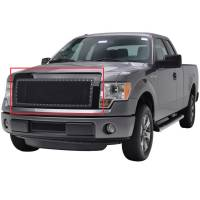Paramount Automotive - Black Evolution Stainless Steel Wire Mesh Packaged Grille #46-0224 - Image 1