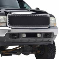 Paramount Automotive - Chrome Shell/Black Mesh Evolution Stainless Steel Wire Mesh Packaged Grille #46-0305 - Image 5