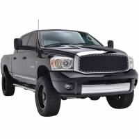 Paramount Automotive - Chrome Shell/Black Mesh Evolution Stainless Steel Wire Mesh Packaged Grille #46-0312 - Image 2