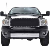 Paramount Automotive - Chrome Shell/Black Mesh Evolution Stainless Steel Wire Mesh Packaged Grille #46-0312 - Image 3