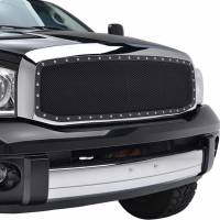 Paramount Automotive - Chrome Shell/Black Mesh Evolution Stainless Steel Wire Mesh Packaged Grille #46-0312 - Image 5