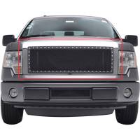 Paramount Automotive - Chrome Shell/Black Mesh Evolution Stainless Steel Wire Mesh Packaged Grille #46-0324 - Image 3
