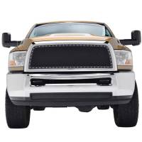 Paramount - Chrome Shell/Black Mesh Evolution Stainless Steel Wire Mesh Packaged Grille #46-0328 - Image 2