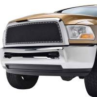 Paramount - Chrome Shell/Black Mesh Evolution Stainless Steel Wire Mesh Packaged Grille #46-0328 - Image 3
