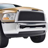 Paramount - Chrome Shell/Black Mesh Evolution Stainless Steel Wire Mesh Packaged Grille #46-0328 - Image 4