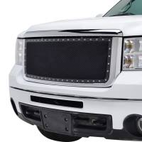 Paramount - Chrome Shell/Black Mesh Evolution Stainless Steel Wire Mesh Packaged Grille #46-0333 - Image 4