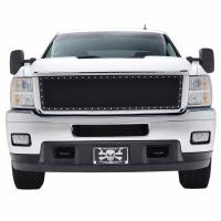 Paramount Automotive - Chrome Shell/Black Mesh Evolution Stainless Steel Wire Mesh Packaged Grille #46-0335 - Image 3