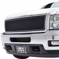 Paramount Automotive - Chrome Shell/Black Mesh Evolution Stainless Steel Wire Mesh Packaged Grille #46-0335 - Image 4