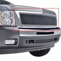Paramount Automotive - Chrome Shell/Black Mesh Evolution Stainless Steel Wire Mesh Packaged Grille #46-0343 - Image 4