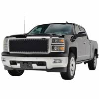 Paramount - Chrome Shell/Black Mesh Evolution Stainless Steel Wire Mesh Packaged Grille #46-0344 - Image 1