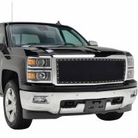 Paramount - Chrome Shell/Black Mesh Evolution Stainless Steel Wire Mesh Packaged Grille #46-0344 - Image 4