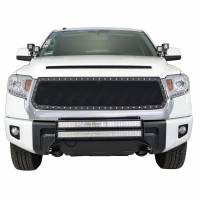 Paramount Automotive - Chrome Shell/Black Mesh Evolution Stainless Steel Wire Mesh Packaged Grille #46-0346 - Image 3