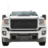 Paramount - Chrome Shell/Black Mesh Evolution Stainless Steel Wire Mesh Packaged Grille #46-0350 - Image 2