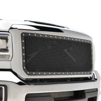 Paramount - Chrome Shell/Black Mesh Evolution Stainless Steel Wire Mesh Packaged Grille #46-0350 - Image 3