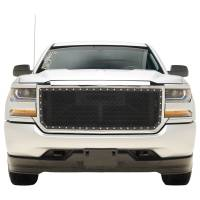 Paramount Automotive - Chrome Shell/Black Mesh Evolution Stainless Steel Wire Mesh Packaged Grille #46-0352 - Image 3