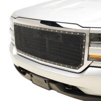 Paramount Automotive - Chrome Shell/Black Mesh Evolution Stainless Steel Wire Mesh Packaged Grille #46-0352 - Image 4