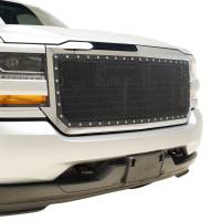 Paramount Automotive - Chrome Shell/Black Mesh Evolution Stainless Steel Wire Mesh Packaged Grille #46-0352 - Image 5