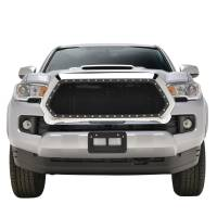 Paramount Automotive - Chrome Shell/Black Mesh Evolution Stainless Steel Wire Mesh Packaged Grille #46-0354 - Image 2