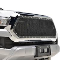 Paramount Automotive - Chrome Shell/Black Mesh Evolution Stainless Steel Wire Mesh Packaged Grille #46-0354 - Image 3