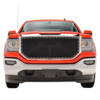 Paramount Automotive - Chrome Shell/Black Mesh Evolution Stainless Steel Wire Mesh Packaged Grille #46-0355 - Image 2