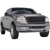 Paramount Automotive - Black Evolution Stainless Steel Wire Mesh Cutout Grille #46-0724 - Image 1