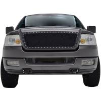 Paramount Automotive - Black Evolution Stainless Steel Wire Mesh Cutout Grille #46-0724 - Image 2