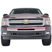 Paramount Automotive - Black Evolution Stainless Steel Wire Mesh Cutout Grille #46-0733 - Image 3