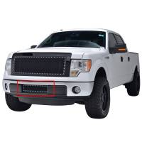 Paramount Automotive - Black Evolution Stainless Steel Wire Mesh Cutout Grille #46-0744 - Image 1