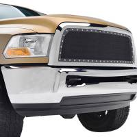 Paramount Automotive - Black Evolution Stainless Steel Wire Mesh Cutout Grille #46-0766 - Image 3