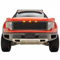 Paramount Automotive - Black Evolution Stainless Steel Wire Mesh Cutout Grille #46-0767 - Image 3