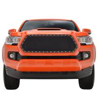 Paramount Automotive - Black Evolution Stainless Steel Wire Mesh Cutout Grille #46-0781 - Image 2