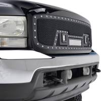 Paramount Automotive - Black Evolution Stainless Steel Wire Mesh Packaged Grille w/ LED #48-0805 - Image 5