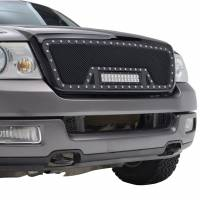 Paramount Automotive - Black Evolution Stainless Steel Wire Mesh Packaged Grille w/ LED #48-0807 - Image 5