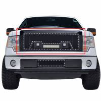 Paramount Automotive - Black Evolution Stainless Steel Wire Mesh Packaged Grille w/ LED #48-0824 - Image 3