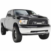 Paramount Automotive - Black Evolution Stainless Steel Wire Mesh Packaged Grille w/ LED #48-0829 - Image 2
