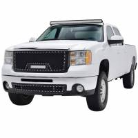 Paramount Automotive - Black Evolution Stainless Steel Wire Mesh Packaged Grille w/ LED #48-0833 - Image 1