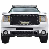 Paramount Automotive - Black Evolution Stainless Steel Wire Mesh Packaged Grille w/ LED #48-0833 - Image 3