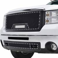 Paramount Automotive - Black Evolution Stainless Steel Wire Mesh Packaged Grille w/ LED #48-0833 - Image 4