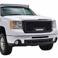 Paramount Automotive - Black Evolution Stainless Steel Wire Mesh Packaged Grille w/ LED #48-0833 - Image 5