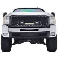 Paramount Automotive - Black Evolution Stainless Steel Wire Mesh Packaged Grille w/ LED #48-0834 - Image 3
