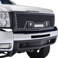 Paramount Automotive - Black Evolution Stainless Steel Wire Mesh Packaged Grille w/ LED #48-0834 - Image 5