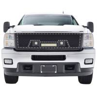 Paramount Automotive - Black Evolution Stainless Steel Wire Mesh Packaged Grille w/ LED #48-0835 - Image 3
