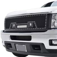 Paramount Automotive - Black Evolution Stainless Steel Wire Mesh Packaged Grille w/ LED #48-0835 - Image 4