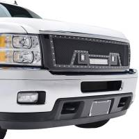 Paramount Automotive - Black Evolution Stainless Steel Wire Mesh Packaged Grille w/ LED #48-0835 - Image 5