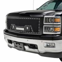 Paramount Automotive - Black Evolution Stainless Steel Wire Mesh Packaged Grille w/ LED #48-0843 - Image 4