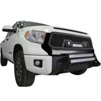 Paramount Automotive - Evolution All Matte Black Stainless Steel Wire Mesh Grille With Three LED Lights #48-0846 - Image 2