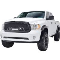 Paramount Automotive - Black Evolution Stainless Steel Wire Mesh Packaged Grille w/ LED #48-0847 - Image 1