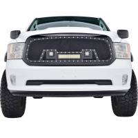 Paramount Automotive - Black Evolution Stainless Steel Wire Mesh Packaged Grille w/ LED #48-0847 - Image 3